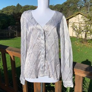 As by DF silk snakeskin blouse